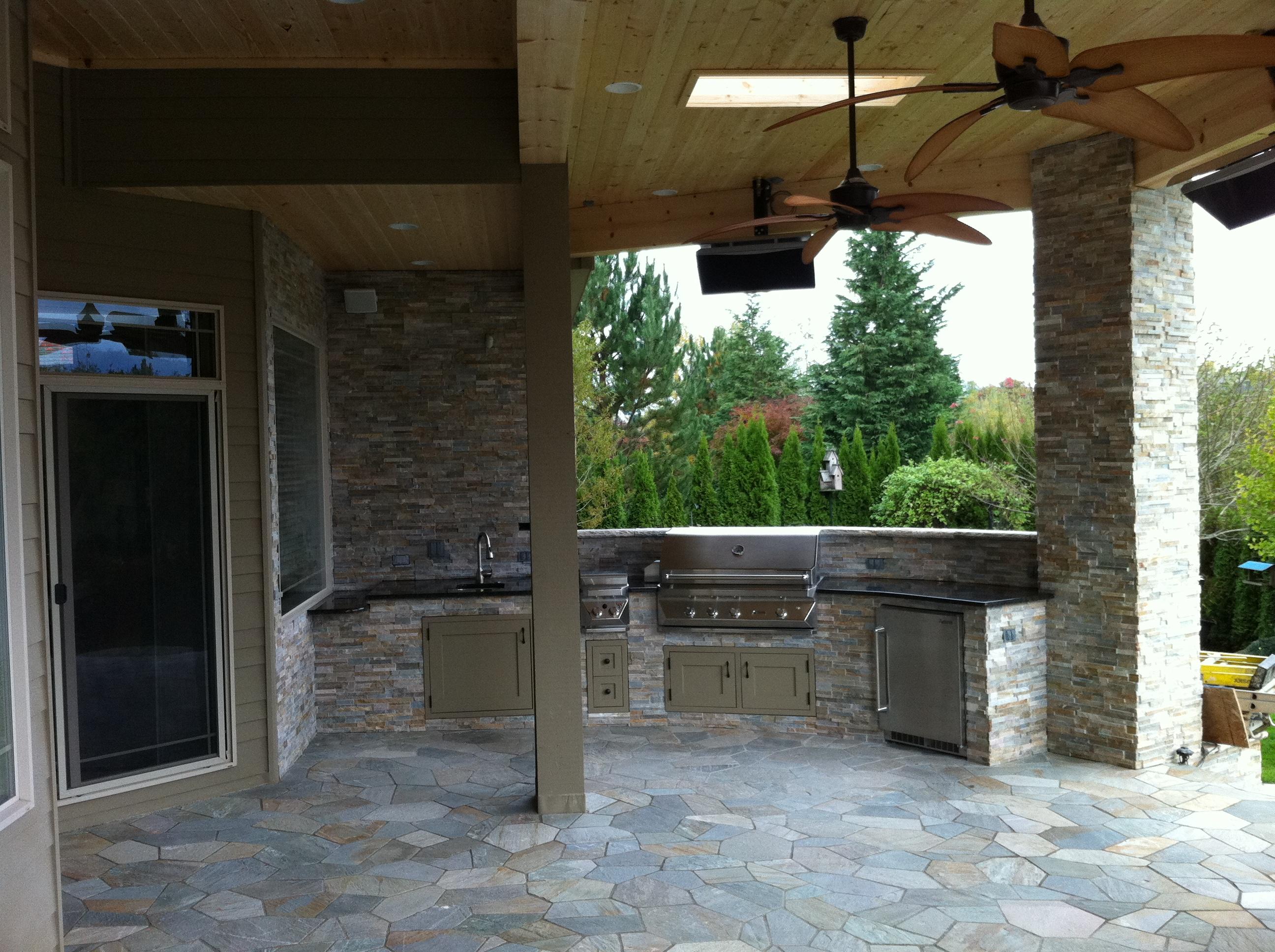 Modern outdoor kitchen indy construction llc for Outdoor kitchen construction