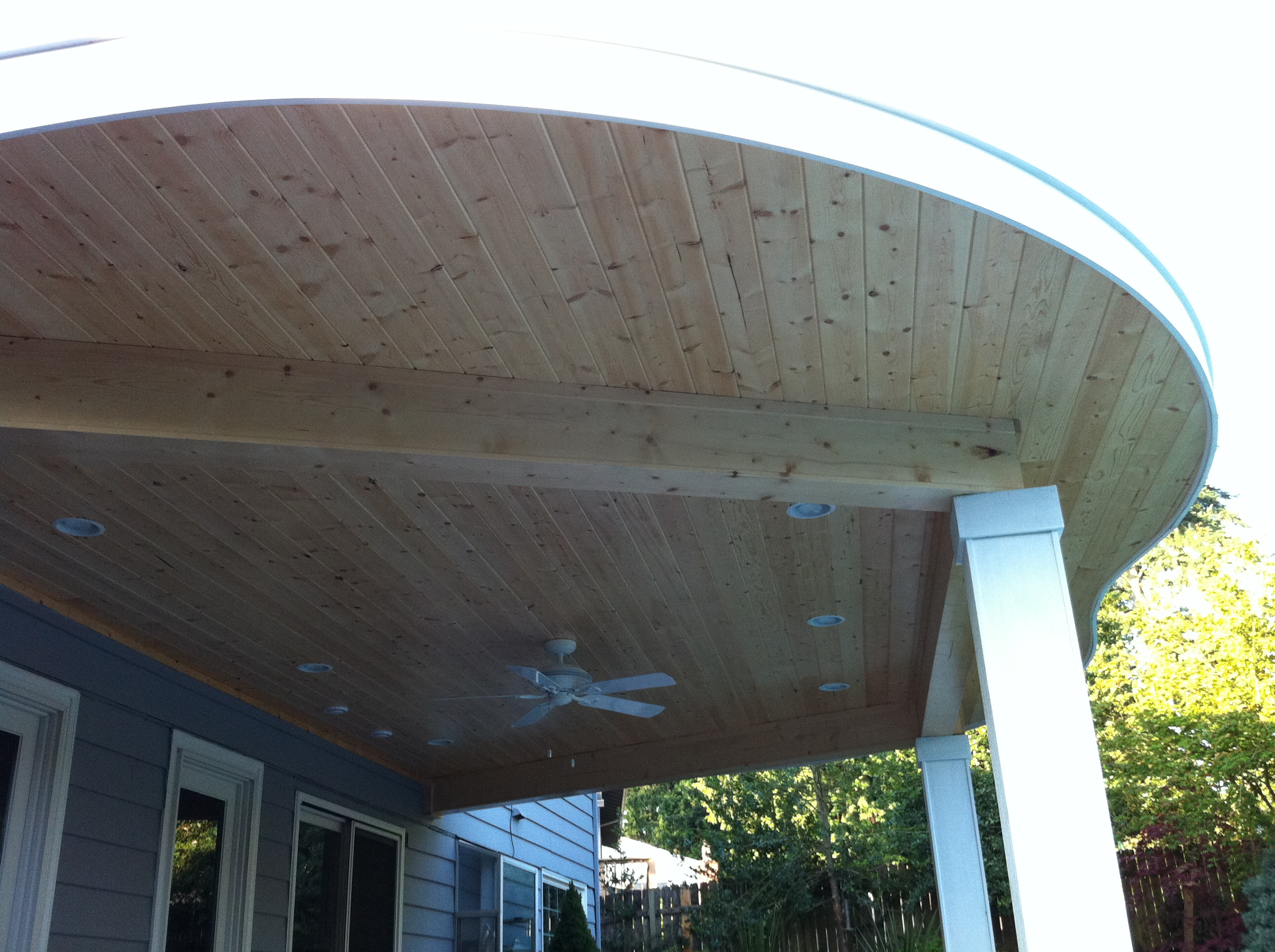Round Roof Patio Cover Indy Construction Llc