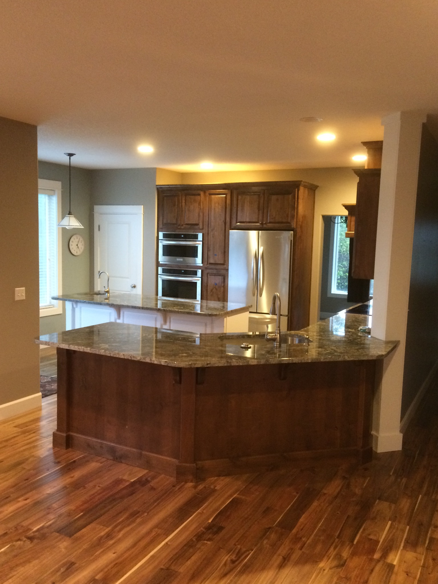 Livingston mt kitchen remodel indy construction llc for Kitchen wall island